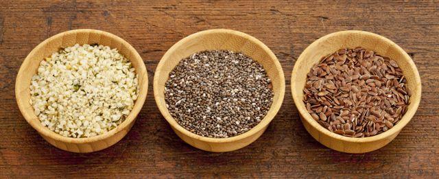 chia flax hemp seeds omega 3 ALA