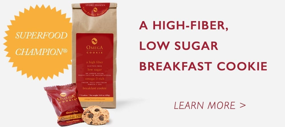 high fiber low sugar breakfast cookie omega-3 gut health