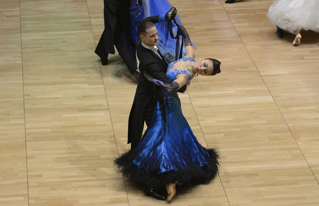 Noelle Sun dancing in a ballroom competition | January 2016 Customer of the Month | Omega3 Innovations