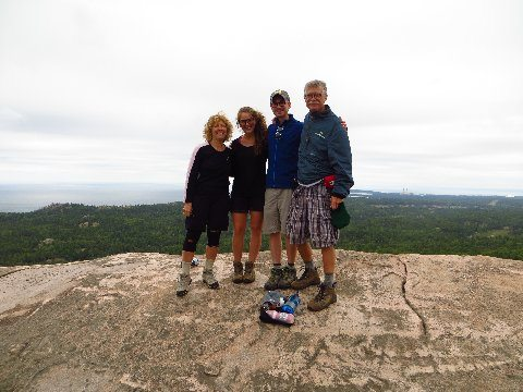 Olender family on a hiking trip | Omega3 Innovations Customer of the Month