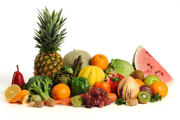 Group of assorted fruits and vegetables
