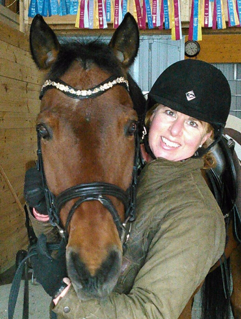 Michelle Hayward with her horse