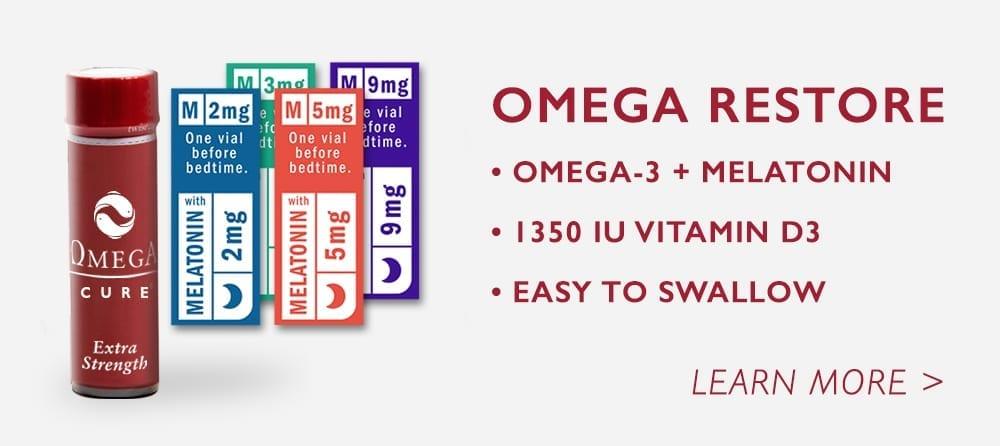 Omega Restore: Omega-3, Melatonin and Vitamin D supplement