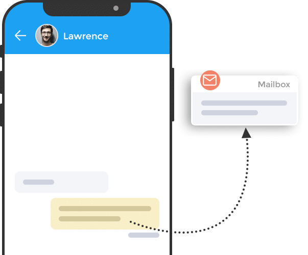 easy switching between email and chat from on place