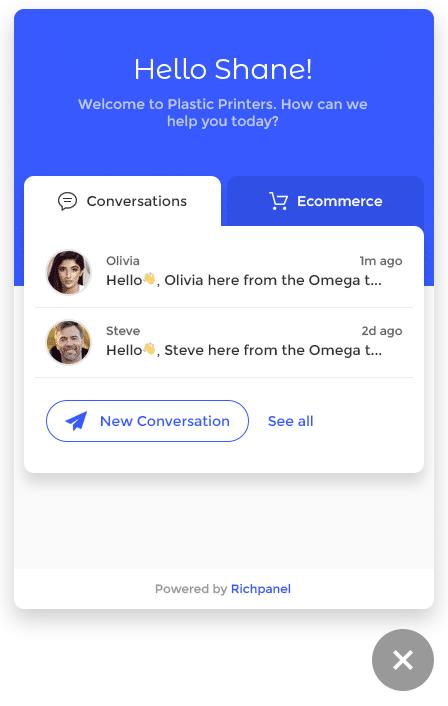 ecommerce live chat widget