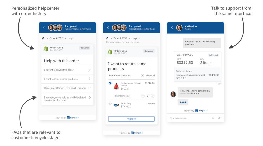 ecommerce helpdesk features with multi channel customer support
